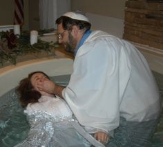 Jewish Mikvah Immersion---first immersion is baptism