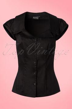 Vixen - 50s Julie Blouse in Black