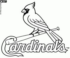 Logo of Saint Louis Cardinals coloring page