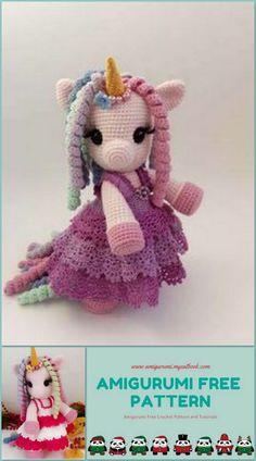 Amigurumi Unicorn Baby Free Pattern - amigurumi.myeatbook.com