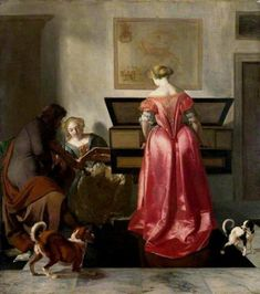 Polyster Canvas the Amazing Art Decorative Canvas Prints Of Oil Painting Jacob Ochtervelt Two Women And A Man Making Music 20 X 23 Inch 51 X 57 Cm Is Best For Living Room Decor And Home Artwork And Gifts Music Painting, Art Music, Popular Song Lyrics, 17th Century Fashion, National Gallery, Johannes Vermeer, North And South America, Music Pictures, A4 Poster