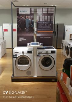 10 inch touch POS display for Siemens washing machines in John Lewis stores around UK. 8 July 2014