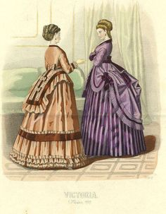 Fashion plate 1870s - notice basques