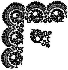 Dibujos, artículos, etc. de bordado en tul