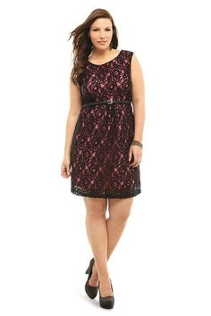 Torrid pink and black lace #dress