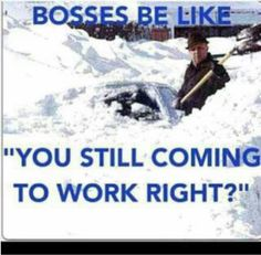 """Bosses be like.....""""you still coming to work right?"""""""