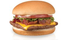wendy's jr. bacon cheeseburger. i get mine plain, just beef, bacon and cheese. hate mayonnaise, lettuce, and tomato. :b