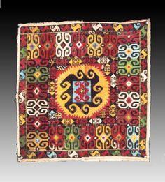 Lakai cross stitch embroidery, 19th century Uzbekistan