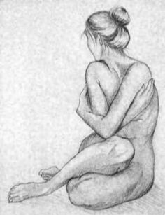 Sketch of a woman Human Figure Drawing, Figure Sketching, Body Drawing, Life Drawing, Drawing Sketches, Art Drawings, Figure Painting, Painting & Drawing, Painting Canvas