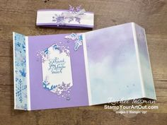Click here to see how to make some beautiful versions of a \'flap fold\' card with products from the Snowflake Splendor Suite in the Aug-Dec 2020 Mini Catalog: Snowflake Wishes Stamp Set, So Many Snowflakes Dies, Snowflake Splendor Designer Paper, Winter Snow Embossing Folder, Blue Adhesive-Backed Gems, and Snowflake Splendor Ribbon. You'll be able to access measurements, the how-to video for doubling the kit, other close-up photos, and links to the products I used. - Stampin' Up!® - Stam... Fun Fold Cards, Folded Cards, Snowflake Cards, Snowflakes, Online Paper, Close Up Photos, Paper Pumpkin, Embossing Folder, Community Art
