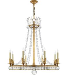 Visual Comfort SN5108HAB Studio VC Regency 8 Light 31 inch Hand-Rubbed Antique Brass Chandelier Ceiling Light #LightingNewYork