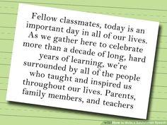 graduation speech examples elementary school