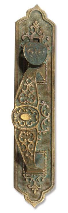 Beautifully detailed bronze door pull