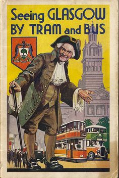 Seeing Glasgow by Tram and Bus - official guide issued by Glasgow Corporation Transport - 1935 edition