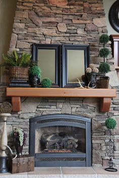 Liz is such an amazing decorator and she puts together her bargains so they look like a million bucks! My Living Room, Home And Living, Cozy Living, Tuscan Decorating, Decorating Ideas, Mantle Decorating, Decor Ideas, Home Fireplace, Fireplace Ideas