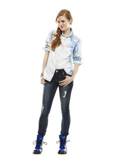 Stella Destroyed Jean Leggings, $79.90, Express. Expensive but cute....