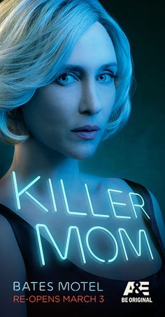"""Bates Motel"" key art, featuring Vera Farmiga, photographed by Art Streiber."