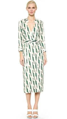 Wes Gordon Geo Print Shirtdress