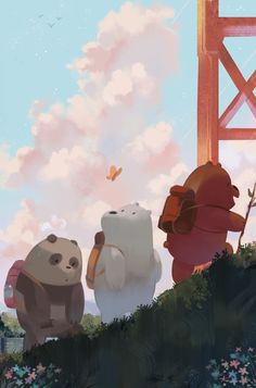 We Bare Bears Wallpaper 94 Images in We Bare Bears Christmas Wallpaper - All Cartoon Wallpapers Bear Wallpaper, Kawaii Wallpaper, Disney Wallpaper, Mobile Wallpaper, Wallpaper Wallpapers, Ice Bear We Bare Bears, We Bear, We Bare Bears Human, Cartoon Network