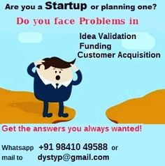 Our research shows that the 3 Biggest problem/ challenges of Startups and the Fear of people wanting to start are 1. Idea validation  2. Funding  3. Customer Acquisition  What is your opinion?  #Success #BusinessSuccess #SuccessTips #BusinessDevelopment  #Business #Startups #BusinessTips #Wannapreneurs #Entreprenur #Entreprenurs #SmallBusiness #Solopreneur #WomenEntrepreneurs #MSME #Trainers  #Coach #BusinessCoach
