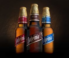 Global brand design consultancy, Elmwood, has completed its latest project for Heineken with a radical redesign of its oldest premium Mexican beer brand, Bohemia. Beer Packaging, Beverage Packaging, Brand Packaging, Packaging Design, Branding Design, Wine And Liquor, Liquor Bottles, Bohemia Beer, Mexican Beer