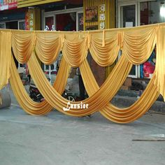 6 meter long elegant and luxury wedding backdrop swags drape for wedding backdrops decoration event party china supplier 2017 Decoration Evenementielle, Background Decoration, Party Background, Backdrop Decorations, Wedding Decorations, Stage Background, Fabric Backdrop, Drapery Fabric, Drapes Curtains