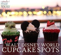 If you love cupcakes, you'll want to check out this post about where to find some of the best at Walt Disney World! (I would add the Gourmet Cake Cups from Magic Kingdom's Cheshire Cafe as they're my ABSOLUTE favorite! And yes ... they are called cake cups - for good reason)!