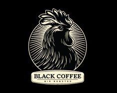 Unique Logo Design, Black Coffee #Logo #Design (http://www.pinterest.com/aldenchong/)