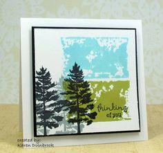 bkgrnd: ink on acrylic block, spray w/ wtr & stamp