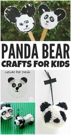 These cute and cuddly panda bear crafts for kids are sure to make you smile. Here's some great projects to make together!