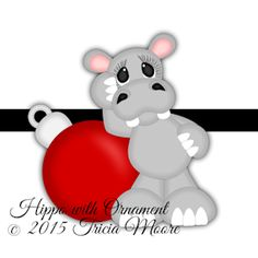 $1 missed freebie Hippo with Ornament