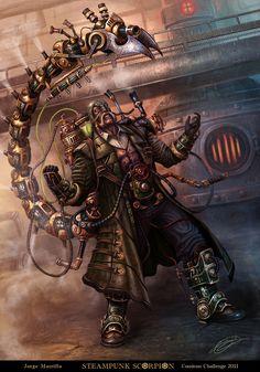 Steampunk Scorpion by ~Gyorkland