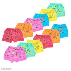 Innerwear Modern Elegant Kid's Innerwear(Pack of 12) Fabric: Cotton Size: Age Group (0 Months - 6 Months) - 12 in Age Group (6 Months - 9 Months) - 12 in Age Group (9 Months - 12 Months) - 14 in Age Group (1 - 2 Years) - 18 in Age Group (2 - 3 Years) - 20 in Age Group (3 - 4 Years) - 22 in Age Group (4 - 5 Years) - 24 in Description: It Has 12 Pieces of Kids  Bloomer  Work: Printed Country of Origin: India Sizes Available: 0-3 Months, 0-6 Months, 3-6 Months, 6-9 Months, 6-12 Months, 9-12 Months, 12-18 Months, 18-24 Months, 0-1 Years, 1-2 Years, 2-3 Years, 3-4 Years, 4-5 Years, 5-6 Years, 6-7 Years, 7-8 Years, 8-9 Years, 9-10 Years, 10-11 Years, 11-12 Years   Catalog Rating: ★3.9 (392)  Catalog Name: Modern Elegant Kid's Innerwear Vol 8 CatalogID_519924 C59-SC1187 Code: 723-3720356-387