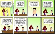 Software not solving a business problem ... requirements gathering Dilbert cartoon for the business analysts !