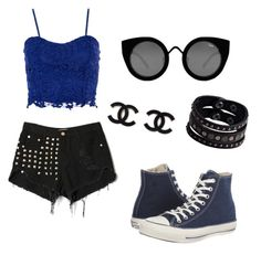 """""""Untitled #8"""" by giuliana-dametto on Polyvore featuring Dorothy Perkins, Converse, Quay and Replay"""