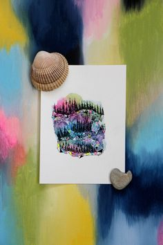 Trees and Triangles. Watercolor Original. Westcoast Art. 5x7 Painting. West coast rainforest. Small Watercolor. Triangles. by SaylorMade on Etsy https://www.etsy.com/ca/listing/270697569/trees-and-triangles-watercolor-original