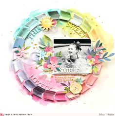 This Sweet Lovely Smile Layout by Missy Whidden Scrapbook Page Layouts, Scrapbook Cards, Scrapbooking Ideas, Smash Book Pages, Hip Kit Club, Scrapbook Storage, Lovely Smile, Circle Pattern, Layout Inspiration