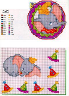 Elephant Dumbo - Cross Stitch Schemes
