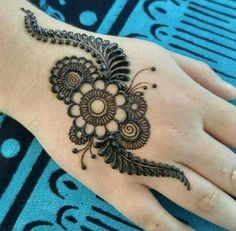Easy Henna Tattoos Design Images - Easy Simple and Cute Henna Design Images Gallery for Girl. best henna design collection for girl with Cute Design New Mehndi Designs 2018, Mehndi Designs Finger, Mehndi Designs For Kids, Simple Arabic Mehndi Designs, Full Hand Mehndi Designs, Mehndi Designs Book, Mehndi Design Pictures, Mehndi Designs For Beginners, Beautiful Henna Designs
