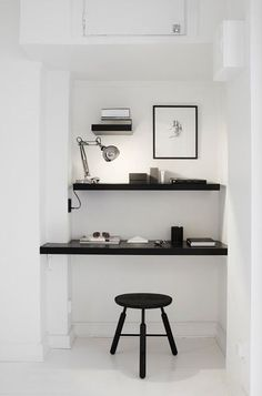 Simple office space with two Shelves
