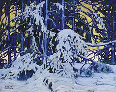 The first time I saw a Tom Thomson or Group of Seven painting (that I remember) was in the fall of 2008 when I went to the National Gallery . Emily Carr, Group Of Seven Art, Group Of Seven Paintings, Winter Landscape, Landscape Art, Landscape Paintings, Landscapes, Painting Snow, Winter Painting