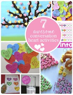 Fun Valentines Day activities to do with your little one. Awesome Conversation Heart Activities!