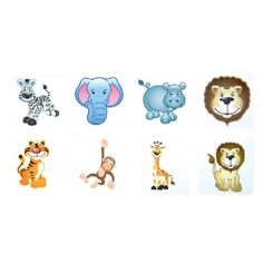 Zoo Animal Tattoos (Bulk Pack of 144 Tattoos) at theBIGzoo.com, an animal-themed superstore.