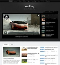 This video WordPress theme includes a slider for featured videos or posts, a footer carousel, a widgetized homepage, easy customization, custom post options for embedding videos, and more.