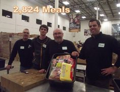 Library trustees, staff, and family members volunteered at the Northern Illinois Food Bank in January 2015.