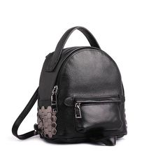 Fashion mini lady leather daypack (three colors)