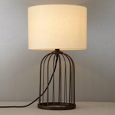 Albury jute sack table lamp dunelm lounge lamp pinterest buy john lewis cosette wire cage lamp online at johnlewis greentooth Images