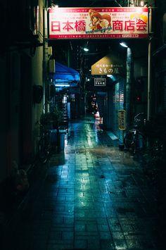 #alleyway #Japan #opo Neo Tokyo, Neon Noir, Portal, Japanese Horror, Cyberpunk City, Neon Nights, Editing Background, Story Setting, Alleyway