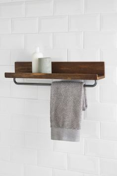 Buy Hudson Shelf from the Next UK online shop Georgian Townhouse, Create A Board, Minimal Home, Downstairs Bathroom, Towel Holder, House Goals, Next Uk, Small Apartments, Uk Online