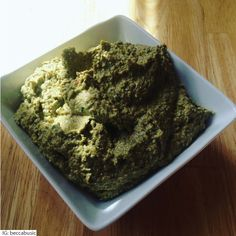 Hatch Green ChilePiñonBasil Pesto (June 17, 2016)— Hatch Green ChilePiñonBasil Pesto — New Mexico, USA—If you're like me and you like to put New Mexico's chile on everything, then you'll love this New Mexican take on an ordinary recipe. The options are endless when it comes to this pesto. Add to pasta, shrimp, burgers, pizza,